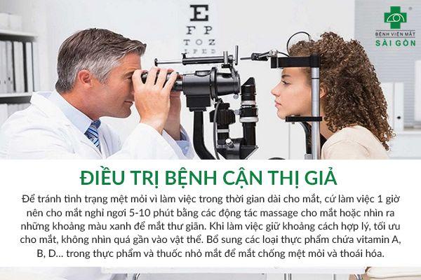điều trị cận thị giả