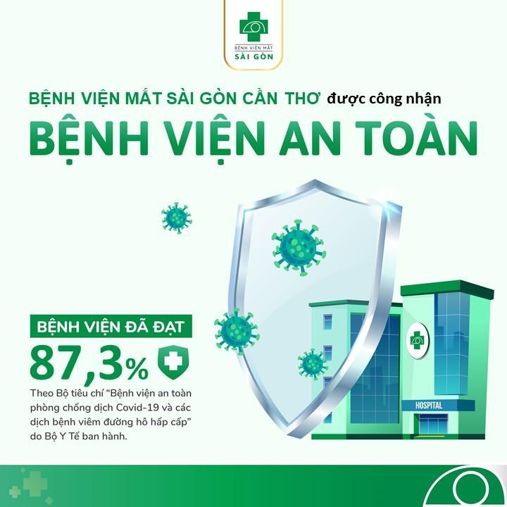 """Các bệnh viện thuộc hệ thống Mắt Sài Gòn đạt chuẩn """"Bệnh viện an toàn"""" trong phòng, chống dịch Covid 19"""